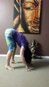 The waterfall – a pose to help with anxiety