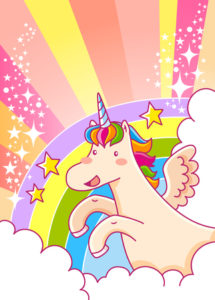 I just KNEW you were a glittery unicorn