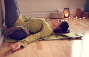 Restorative yoga - perfect for reducing anxiety