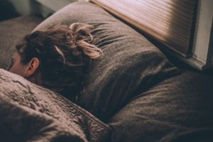 Woman sleeping deeply - deep sleep reduces anxiety, says Sarah Tuckett Psychotherapy and Counselling North Brisbane