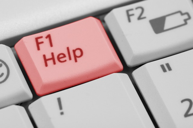Help button on computer - if you need help setting up technology for your online therapy session with Sarah Tuckett Psychotherapy and Counselling North Brisbane