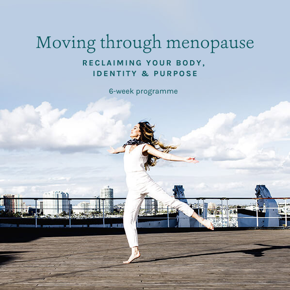 Middle-aged woman dancing in sun with open arms - Moving through menopause 6 week programme with Sarah Tuckett Psychotherapy and Counselling North Brisbane