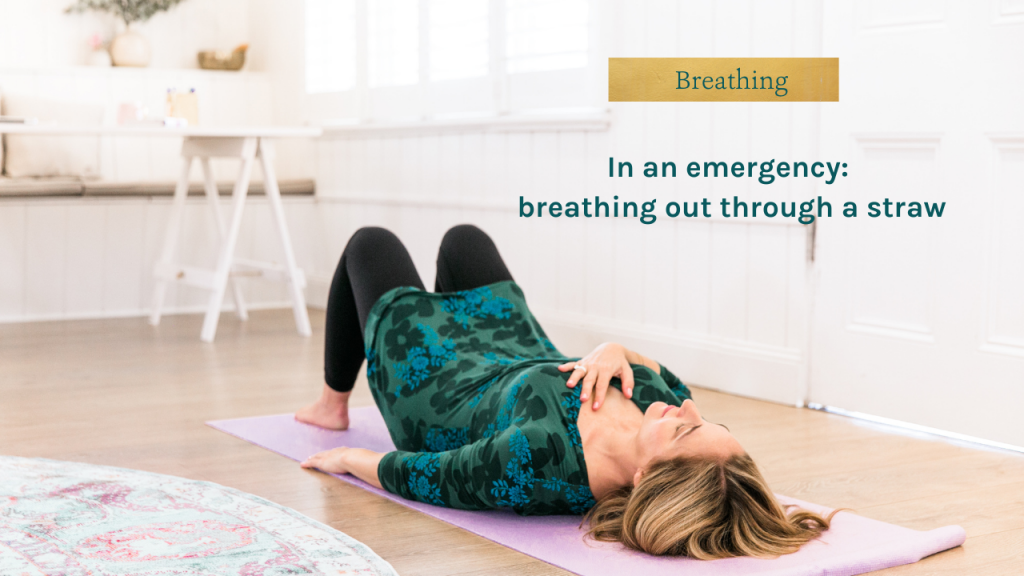 Video cover: breathing out through a straw - Sarah Tuckett Psychotherapy and Counselling